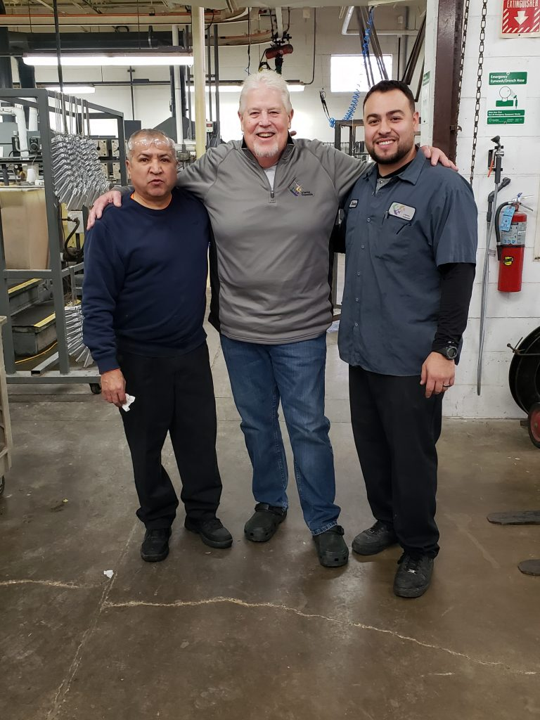 The first and last hires of Del's career. Tony and Christian Hurtado. 12years of service for Christian.